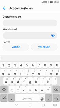 Huawei P10 Plus - E-mail - handmatig instellen - Stap 8