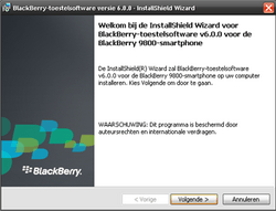 BlackBerry 9800 Torch - Software - Update installeren via PC - Stap 9
