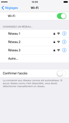 Apple iPhone 6s iOS 10 - Wifi - configuration manuelle - Étape 4
