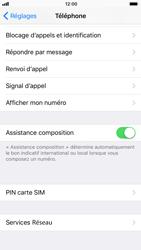 Apple iPhone 8 - Sécuriser votre mobile - Personnaliser le code PIN de votre carte SIM - Étape 4