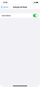 Apple iPhone X - iOS 13 - Rede móvel - Como selecionar o tipo de rede adequada - Etapa 5