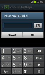 Samsung S7710 Galaxy Xcover 2 - Voicemail - Manual configuration - Step 8