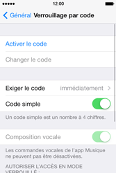 Apple iPhone 4S - Sécuriser votre mobile - Activer le code de verrouillage - Étape 5