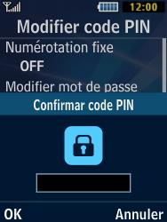 Samsung Solid 271 - Sécuriser votre mobile - Personnaliser le code PIN de votre carte SIM - Étape 8