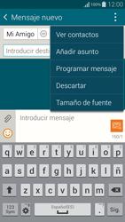 Samsung G850F Galaxy Alpha - Mensajería - Escribir y enviar un mensaje multimedia - Paso 10