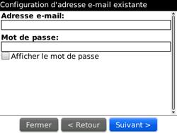 BlackBerry curve 3G - E-mails - Ajouter ou modifier un compte e-mail - Étape 9