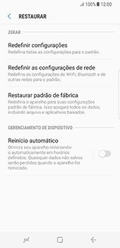 Samsung Galaxy S8 - Funções básicas - Como restaurar as configurações originais do seu aparelho - Etapa 6