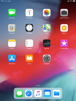 Apple iPad Air iOS 12 - E-mail - envoyer un e-mail - Étape 1