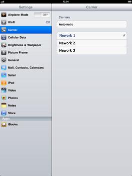 Apple iPad - Network - Usage across the border - Step 4