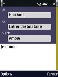 Nokia N86 - E-mail - Envoi d