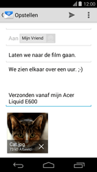 Acer Liquid E600 - E-mail - Hoe te versturen - Stap 15
