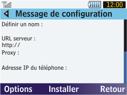 Samsung S3570 Chat 357 - MMS - Configuration automatique - Étape 5