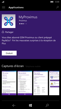Microsoft Lumia 950 XL - Applications - MyProximus - Étape 7