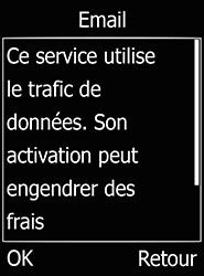 Doro 6520 - E-mails - Ajouter ou modifier un compte e-mail - Étape 9