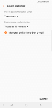 Samsung Galaxy Note 8 - E-mail - Configuration manuelle - Étape 16