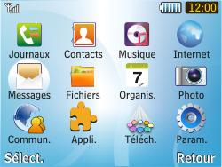 Samsung S3350 Chat 335 - SMS - Configuration manuelle - Étape 3