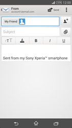 Sony Xperia T3 - Email - Sending an email message - Step 8