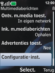 Nokia 6600i slide - MMS - Automatisch instellen - Stap 9