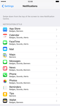 Apple Apple iPhone 6s Plus iOS 10 - iOS features - Customise notifications - Step 4