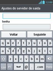 LG E430 Optimus L3 II - Email - Como configurar seu celular para receber e enviar e-mails - Etapa 19