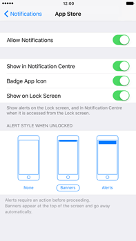 Apple Apple iPhone 6 Plus iOS 10 - iOS features - Customise notifications - Step 9