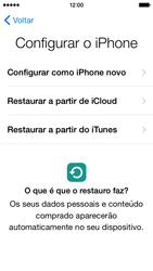 Apple iPhone 5s iOS 8 - Primeiros passos - Como ligar o telemóvel pela primeira vez -  13