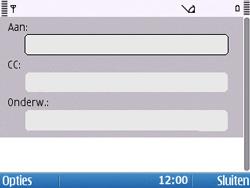 Nokia E5-00 - E-mail - hoe te versturen - Stap 6