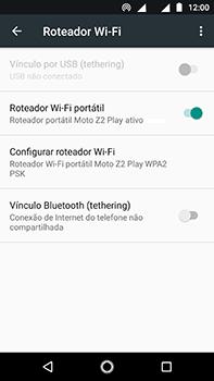 Motorola Moto Z2 Play - Wi-Fi - Como usar seu aparelho como um roteador de rede wi-fi - Etapa 9