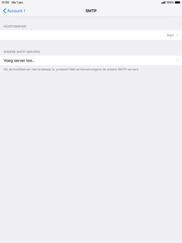 Apple ipad-mini-3-ios-12 - E-mail - Account instellen (POP3 zonder SMTP-verificatie) - Stap 20