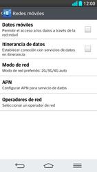 LG G2 - Red - Seleccionar el tipo de red - Paso 6