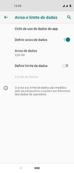 Motorola One Vision - Rede móvel - Como definir um aviso e limite de uso de dados - Etapa 7