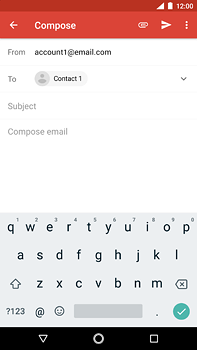 Nokia 6 (2018) - E-mail - Sending emails - Step 7