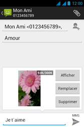 Acer Liquid Z2 - Mms - Envoi d