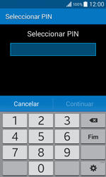 Samsung Galaxy Core II - Segurança - Como ativar o código de bloqueio do ecrã -  7