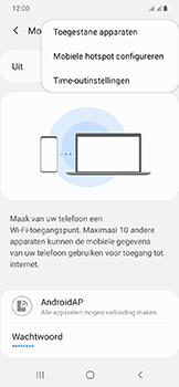 Samsung galaxy-a20e-dual-sim-sm-a202f - WiFi - Mobiele hotspot instellen - Stap 8