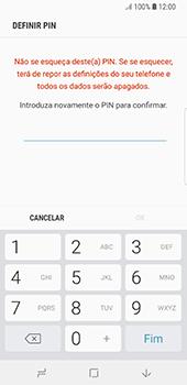 Samsung Galaxy S8 - Android Oreo - Segurança - Como ativar o código de bloqueio do ecrã -  9