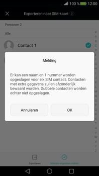 Huawei Mate S (Model CRR-L09) - Contacten en data - Contacten kopiëren van toestel naar SIM - Stap 8