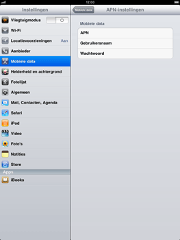 Apple iPad 2 - Internet - handmatig instellen - Stap 4