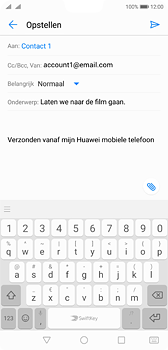 Huawei P20 Dual-SIM (Model EML-L29) - E-mail - Bericht met attachment versturen - Stap 8