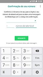 Samsung Galaxy A3 (2017) - Aplicações - Como configurar o WhatsApp -  9