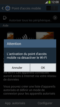 Samsung Galaxy Note 3 - Internet et connexion - Partager votre connexion en Wi-Fi - Étape 10