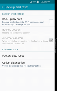 Samsung N915FY Galaxy Note Edge - Device maintenance - How to do a factory reset - Step 6