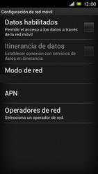 Sony Xperia J - Red - Seleccionar una red - Paso 6
