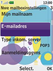 Nokia 7310 supernova - E-mail - Handmatig instellen - Stap 15