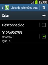 Samsung Galaxy Pocket Neo - Chamadas - Como bloquear chamadas de um número -  13