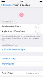 Apple iPhone 6 iOS 9 - Segurança - Como ativar o código de bloqueio do ecrã -  7
