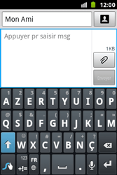 Samsung S7500 Galaxy Ace Plus - MMS - Envoi d