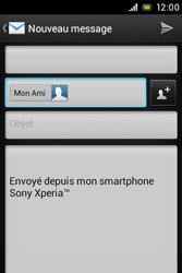 Sony C1505 Xperia E - E-mail - envoyer un e-mail - Étape 7