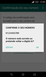 Sony Xperia E1 - Aplicações - Como configurar o WhatsApp -  7