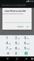 Motorola Moto E (1st Gen) (Lollipop) - Sécuriser votre mobile - Personnaliser le code PIN de votre carte SIM - Étape 8